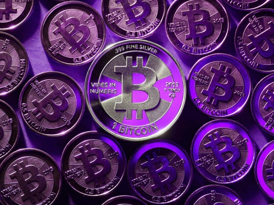 beautiful-deep-purple-tangible-bitcoin-coins-wallpaper